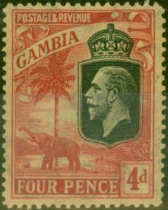 Gambia 1922 4d Red-Yellow SG118 Fine MNH