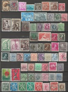 COLLECTION LOT # 5644 BELGIUM 64 STAMPS CLEARANCE