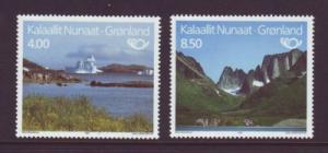Greenland Sc 289-0 1995 Tourism stamp set mint NH