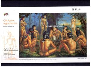 Venezuela 1998 Aborigenes NUDES Paintings s/s Perforated mnh.vf