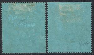 MALTA 1914 KGV 2/- 2 SHADES WMK MULTI CROWN CA