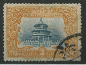 China 1909 3 cents used