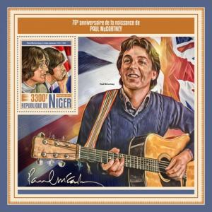 NIGER - 2017 - Paul McCartney - Perf Souv Sheet - MNH