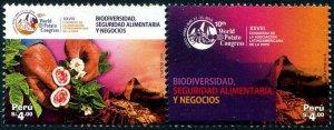 HERRICKSTAMP NEW ISSUES PERU World Potato Congress Setenant Pair