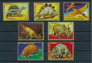 [107114] Equatorial Guinea 1978 Prehistoric animals dinosaurs Imperf. MNH
