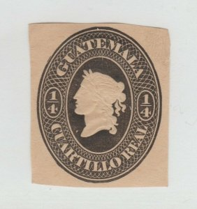 Guatemala  Postal stamp Cut Out from Stationary? - 12-29 nice