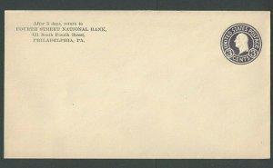 Ca 1917 U436c 3c Dark Violet On White Mint Entire Die 145 Size 13