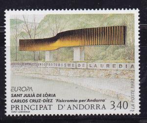 Andorra (French) 1993 3.40fr Sculptures Fisicromia per Andorra  VF/NH(**)