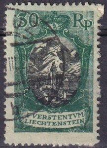 Liechtenstein  #64  F-VF Used  CV $21.00 (Z3153)