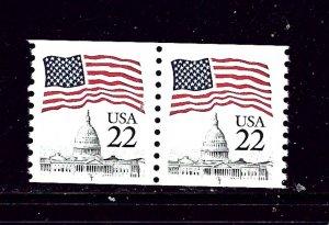 U.S. 2115a MNH 1987 Coil Pair