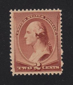 1883  Sc 210  2¢ brown  MNH OG  FVF  single  CV $130