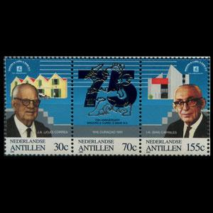 NETH.ANTILLES 1991 - Scott# 664a Curiel Bank Set of 3 NH