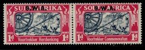 SOUTH WEST AFRICA GVI SG109, 1d blue & carmine, M MINT. Cat £16.
