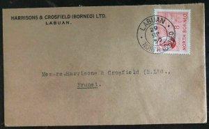 1950 Labuan North Borneo Commercial Cover  to Brunei