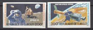 DJIBOUTI SC# C135-C136 SPACE CONQUEST MNH - IMPERF