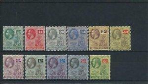 MONTSERRAT 1916-22 SET OF ELEVEN (1d VALUE MSCA) MM SG 49/59 CAT £130