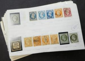 EDW1949SELL : FRANCE Extensive collection, Mint & Used on Old Time pgs Cat $3030