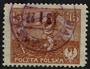 Poland Scott 155 (SW 126) Used (1921) Peace Treaty