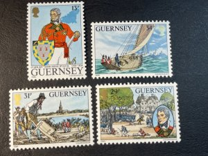 GUERNSEY # 303-306-MINT NEVER/HINGED--COMPLETE SET--1984-85