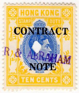 (I.B) Hong Kong Revenue : Contract Note 10c