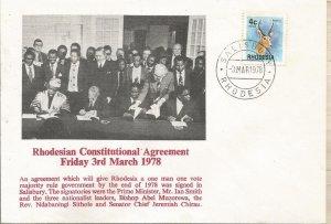RHODESIA, 1978, FDC, Constitution Scott 331