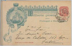 50861 - PORTUGAL -  POSTAL HISTORY - STATIONERY CARD -  Michel # P45 1898