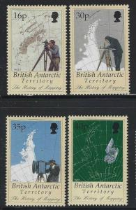 Br Antarctic Territory 1998 History of Mapping set Sc# 253-57 NH