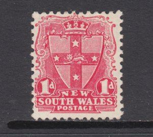 New South Wales Sc 98f MLH. 1897 1p rose red Seal, perf 12x11½, inverted wmk,