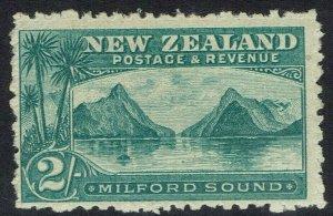NEW ZEALAND 1899 MILFORD SOUND 2/- NO WMK PERF 11