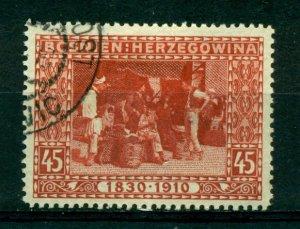 Bosnia & Herzegovina 1910 #57 U SCV(2020)=$7.50