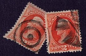 USA 1879 Scott 183 Two Fancy Cancels Only $7.00