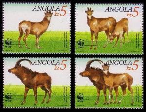 Angola WWF Giant Sable Antelope 4v SG#926-929 SC#781-784 MI#799-802