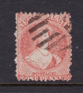 New Zealand an old used QV 1d Orange (FFQ)
