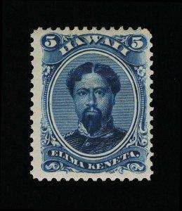 GENUINE HAWAII SCOTT #52C VF-XF MINT OG H 1890-91 DEEP INDIGO KING KAMEHAMEHA V