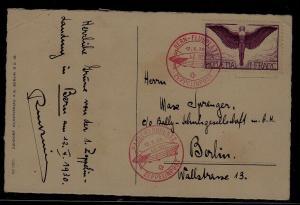 Switzerland Zeppelin card 12.10.30 Bern
