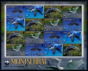[66863] Montserrat 2010 Birds Egret WWF Sheet MNH