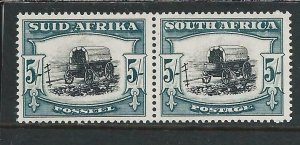SOUTH AFRICA 1933-48 5s BLACK & BLUE-GREEN MM SG 64b CAT £42
