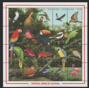 $Guyana Sc#2379-2381 M/NH/VF, complete set, set/3 sheets/20 birds, Cv. $51