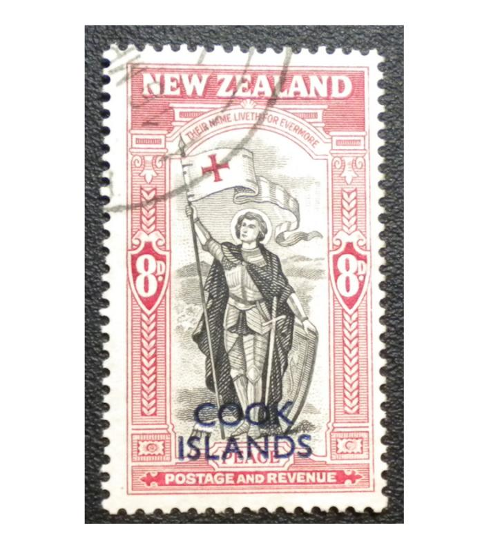 BRITISH COOK ISLANDS. SCOTT # 130. YEAR 1946. USED