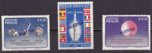 Paraguay space 1964 Mi-1336/1337+1340 Muestra