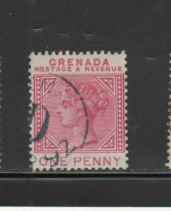 GRENADA #30   1887  1p  QUEEN VICTORIA     F-VF  USED