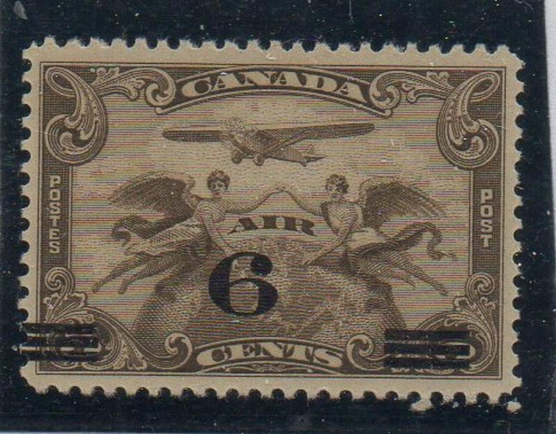 Canada Sc  C3 1932 6c on 5c airmail stamp mint NH