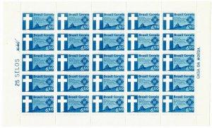 Brazil C100 MNH Full Sheet (SCV $6.25)