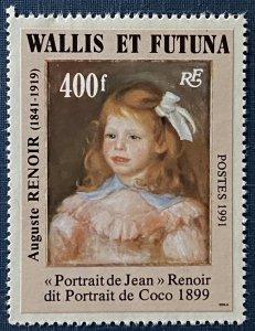 Wallis and Futuna Islands 410 MNH Portrait of Jean by Auguste Renoir (SCV $9.75)