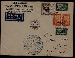 Hungary Zeppelin cover 29.3.31 Debrecen