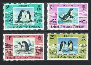BAT Penguins Birds 4v SG#89-92 CV£10+