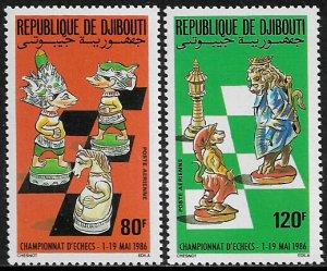 Djibouti #C225-6 MNH Set - World Chess Championships