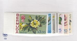 BERMUDA # 322-328 VF-MLH FLOWERS CAT VALUE $35