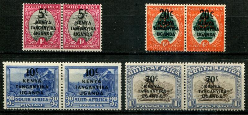 Kenya, Uganda & Tanganyika - KUT SC# 86-9 SG# 151-4 set  o/p on South Africa MH