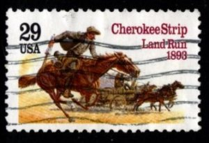 #2754 Cherokee Strip land Run (off paper) - Used